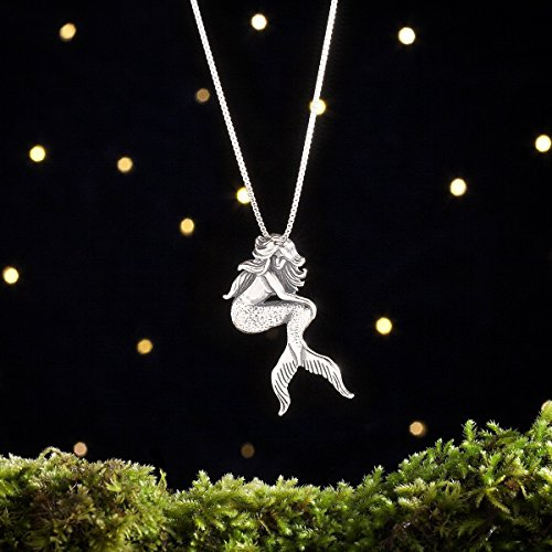 Sterling Silver Mermaid - Nautical Beach Summer Jewelry - (Pendant or Necklace) ()