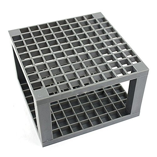 SODIAL Dual Brush Pen Desk Stand, Empty Gray 14.514.59cm Plastic - Plastic Dual Stand