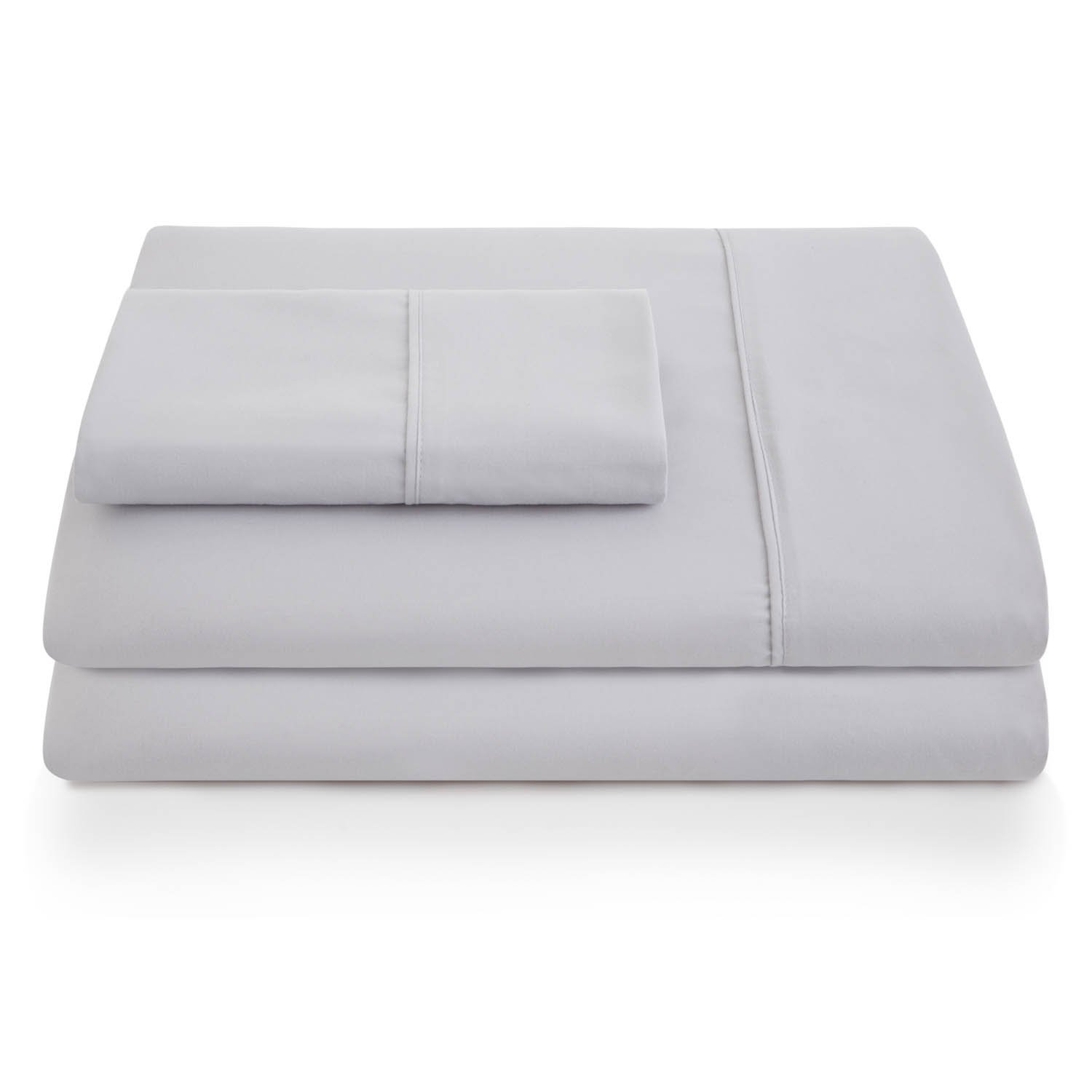 LINENSPA Ultra Soft, Wrinkle Resistant Double Brushed Microfiber Pillowcase Set Grey