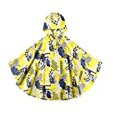 Absolutely Perfect Children Backpack Raincoat Hooded School Lightweight Ponchos Clouds M (for 39.4''-51.2'' Height)