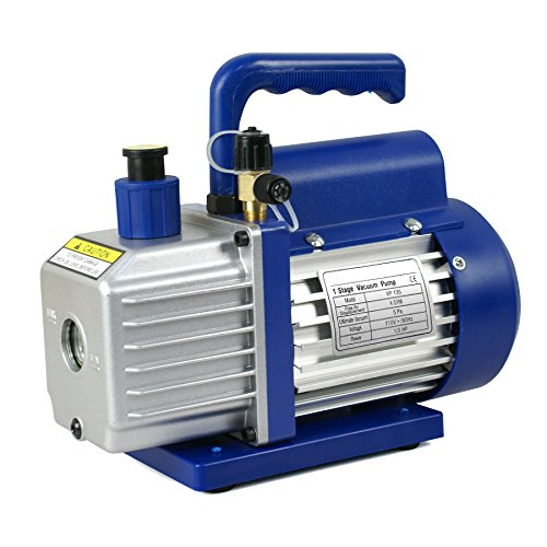 Super Deal 3.5CFM/4CFM/5CFM 1/4HP Air Vacuum Pump HVAC Kit AC A/C Manifold Gauge Set (4CFM Vacuum Pump) -