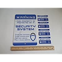 Home Security Alarm System Security Yard Sign & 4 Window Stickers - Stock # 719