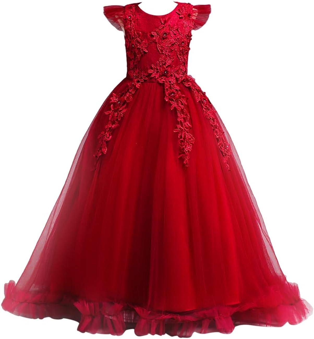 Petalo di Fiori Lunghezza del Piano Pageant Compleanno Vestito da Principessa Outfits besbomig Natale Nozze Sera Vestito Grandi Rragazze
