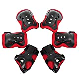 RMISODO 6 Pieces Kids Protective Gear Set Knee Pad Elbow Pad Guard with Wrist Guard for Skating Cycling Scooter Riding Sport