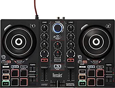 Hercules DJ 200 Portable USB Controller, Academy and Full DJ Software DJUCED Included from Hercules DJ