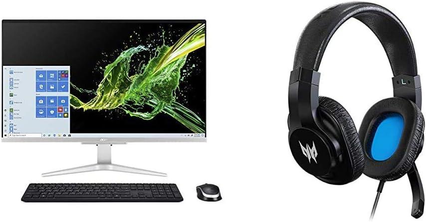 "Acer Aspire C27-962-UA91 AIO Desktop, 27"" Full HD Display, 10th Gen Intel Core i5-1035G1, NVIDIA GeForce MX130, 12GB DDR4, 512GB SSD, 802.11ac Wi-Fi, Windows 10 Home with Gaming Headset"