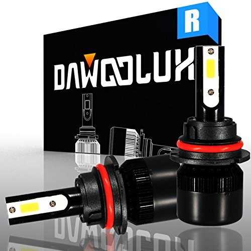D Headlight Bulbs Conversion Kit Flip COB Chips/Internal Driver-Dual All-in-one High/Low Beam Extremely Bright 6500K Cool White 6400 Lumens 60W ()