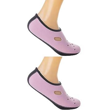 lzndeal Calcetines de Agua de 1 par Zapatos de Agua de Snorkel de Corte bajo de