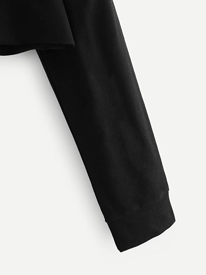 Sudadera con Capucha Mujeres, LANSKIRT Oreja de Gato Manga Larga Hoodie Encapuchado Pulóver Tops Blusa Color sólido Negro: Amazon.es: Ropa y accesorios
