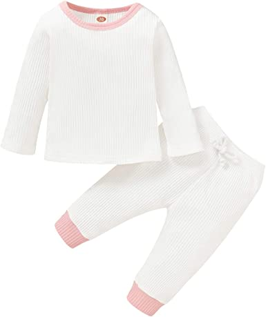 Baby Girl Clothes Toddler Long Sleeve Shirt Solid Pants Fall Infant Outfit Set