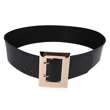 Zarapack Femme Large ceinture de cuir véritable Signature Doré carré Boucle  S M - Or - Taille unique  Amazon.fr  Vêtements et accessoires 576f68593d1