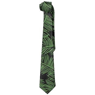 Moda Hojas verdes Lazo de los hombres Corbata larga Corbata ...