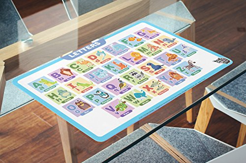 Fat Zebra Designs Educational Placemats - Set of 5 Learning Placemats: Letters, Numbers, Shapes, Addition & Month/Days/Seasons - Easy Clean, Durable & Reusable Kids Table Mats - 12x17 Inches by Fat Zebra Designs (Image #6)
