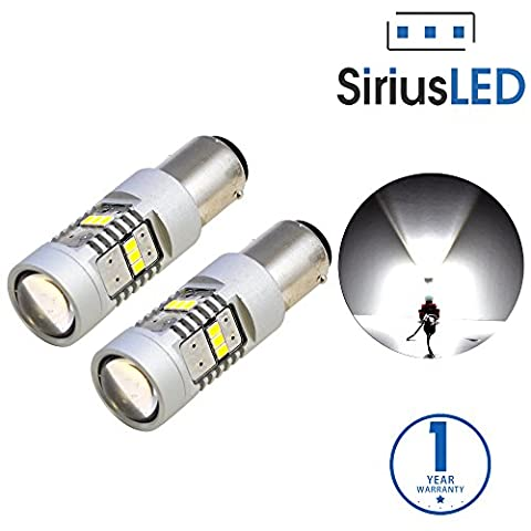 SiriusLED Extremely Bright 2835 Chipset Projection 1400 Lumen LED Brake Tail Turn Signal Light Bulb Pure White Size 1157 7528 2057 Pack of - 1998 Chevrolet Camaro Brake