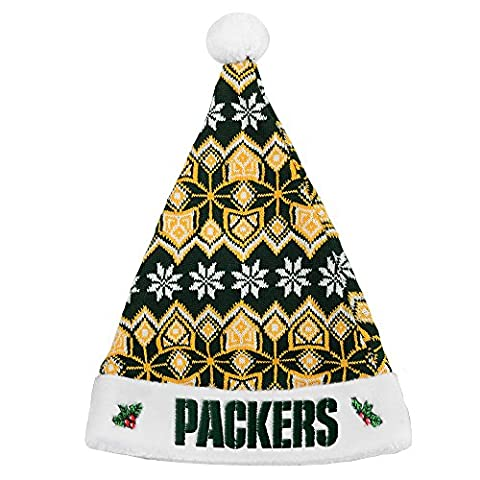 Green Bay Packers Official NFL 2015 Knit Santa Hat (Green Bay Packers Hat Scarf)