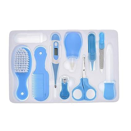 junkai Kit de Cuidado para Bebé Azul 6pcs Bebé Cuidado de la Salud Aseo Kit para