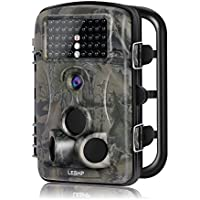 Hunting Trail Camera, Elepawl Wildlife Game Camera 12MP 1080P HD No Glow with Time Lapse 65ft 120°Wide Angle Infrared Night Vision 42pcs IR LEDs 2.4 LCD Screen Scouting Cam Deer Camera