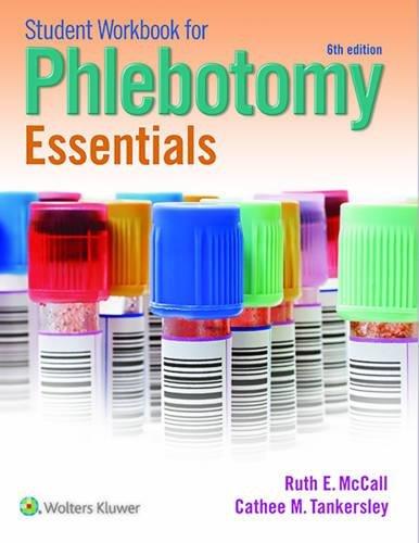 Student Workbook for Phlebotomy Essentials