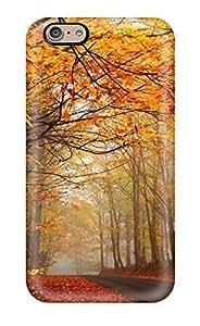 Iphone 6 Case Cover Skin : Premium High Quality Autumn Road Earth Nature Autumn Case