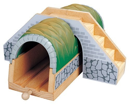 Maxim Wooden Train Tunnel with Stairs - Thomas & Friends / BRIO Compatible
