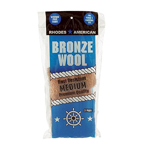 - Bronze Wool, 3 pad, Medium Grade, Rhodes American, Household, Marine and Industrial Use