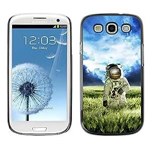 Be Good Phone Accessory // Dura Cáscara cubierta Protectora Caso Carcasa Funda de Protección para Samsung Galaxy S3 I9300 // Astronaut Cosmonaut Spacesuit Alien Planet