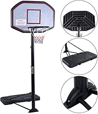 "Movement God Pro Court Height-Adjustable Portable Basketball Hoop System with 43"" Backboard"