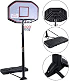 Movement God Pro Court Height-Adjustable Portable Basketball Hoop System with 43' Backboard (Black Backboard)
