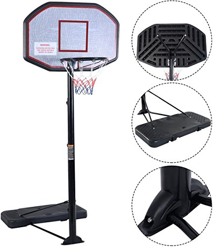 """Movement God Pro Court Height-Adjustable Portable Basketball System with 43"""" Backboard"""