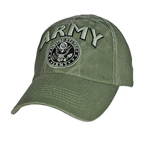 U.S. ARMY Insignia Hat / Army Emblem OD Green Baseball Cap