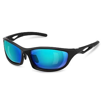 Enkeeo Gafas de sol polarizadas deportivas para hombre y mujer con lentes de protección UV400 100