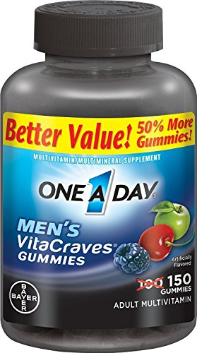 2 Pack -One A Day, Men s VitaCraves Gummies, 150 count each.