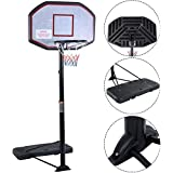 """Movement God Pro Court Height-Adjustable Portable Basketball Hoop System with 43"""" Backboard"""