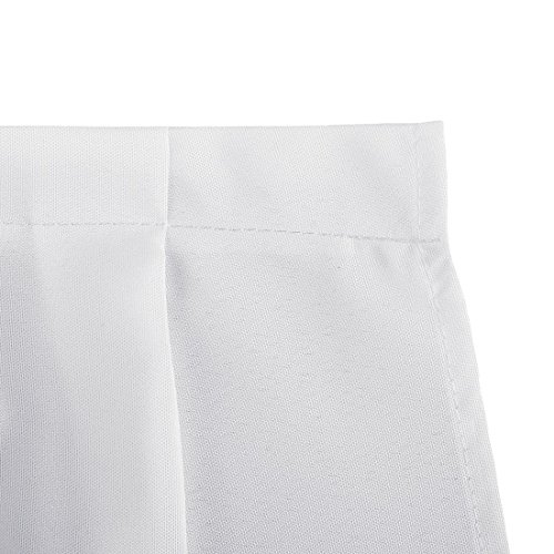 LinenTablecloth 14 ft. Accordion Pleat Polyester Table Skirt White by LinenTablecloth (Image #2)