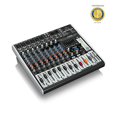 - Behringer XENYX X1222USB Premium 16-Input 2/2-Bus Mixer with 1 Year EverythingMusic Extended Warranty Free