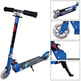 Goplus Folding Kick Scooter for Kids Deluxe Aluminum 2 Wheels Glider Adjustable Height with LED Light Up Rear Wheel for Girls and Boys