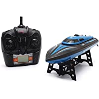 elegantstunning H100 Catamaran Rc Radio Remote Control Racing Boat 2.4Ghz 4Ch High Speed Rc Boat with LCD