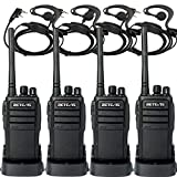 Retevis RT21 Walkie Talkies Updated 3000mAh FRS Radio 16CH UHF Two Way Radio Rechargeable VOX Scramble 2 Way Radios with Earpiece(4 Pack)
