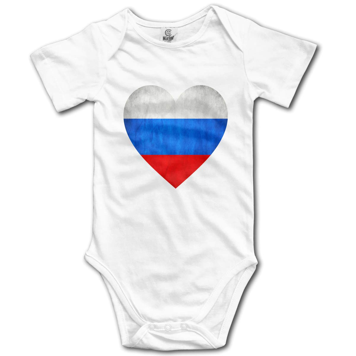 Baby Short-Sleeve Onesies Love Vintage Russian Flag Bodysuit Baby Outfits