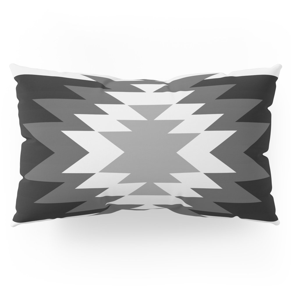 Society6 Aztec - Black And White Pillow Sham King (20'' x 36'') Set of 2