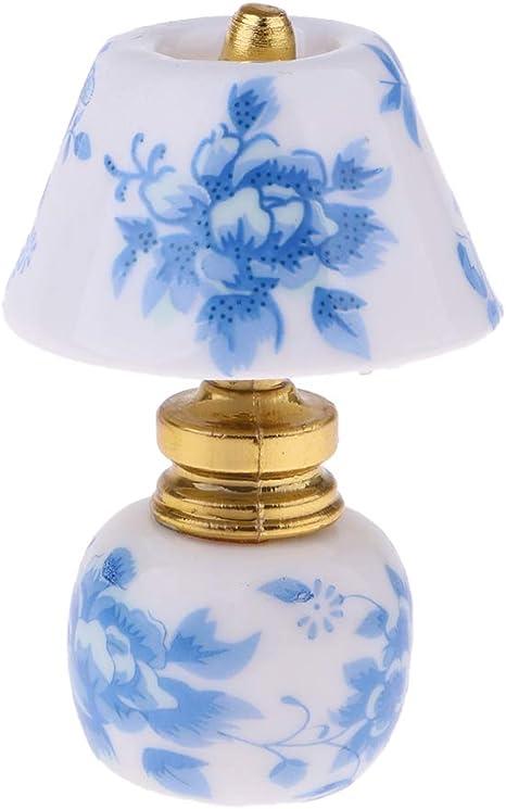 Amazon.es: Baoblaze Miniatura Lámpara de Mesa de Escritorio ...