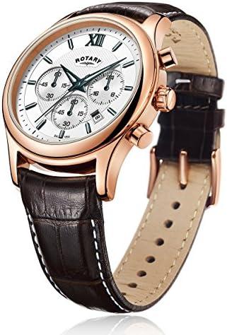 Rotary GS00349/06 - Orologio da Polso Cronografo, Pelle, Marrone