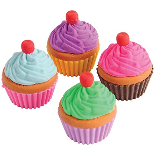 Apart Assorted Color Cupcake Erasers product image