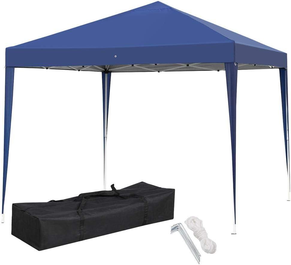 Yaheetech 3X3 M Carpa Tienda de Jardin Pabellon Cenador para Fiesta Alruta Ajustable Azul: Amazon.es: Jardín