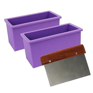 Tomnk Molde de gel de sílice de rectangular para jabones y cortador de jabones: Amazon.es: Hogar