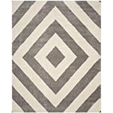 Safavieh Portofino Shag Collection PTS217A Ivory and Grey Area Rug (5'1 x 7'6)
