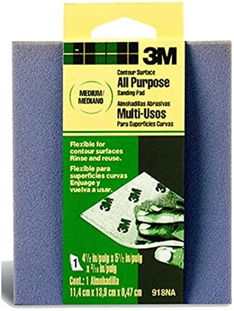 4.5-Inch by 5.5-Inch by .1875-Inch 918DC-NA 3M Contour Surface Sanding Sponge