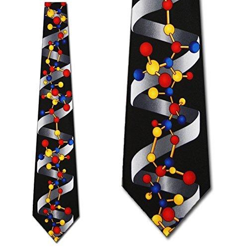 Steven Harris Men's DNA Double Helix Scientist Necktie-Black-One Size Neck Tie ()