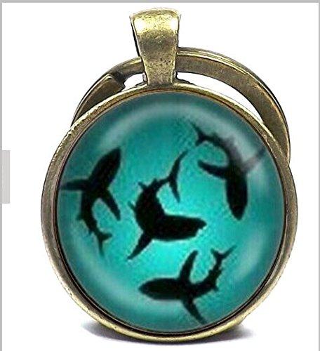 Circling Sharks Pendant keychain 1