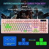 NPET K10 Gaming Keyboard USB Wired Floating